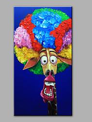 economico -Dipinta a mano Animali Verticale,Moderno Un Pannello Hang-Dipinto ad olio For Decorazioni per la casa