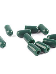 cheap -Anmuka 100pcs Green Color Rubber Buffer Beads Knot Protector for Carp Fishing Hair Rig Making