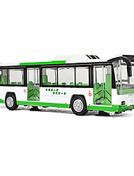 Die-Cast Vehicles Toy Cars Toys Bus Furnishing Articles Desk Decoration Bus Metal Alloy Kids Unisex Birthday Children's Day Gift Action &