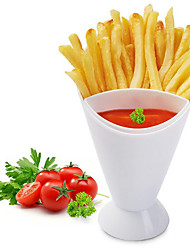 cheap -Snack Cone Stand With Remove Sauce Dip Fries Chips Finger Food Salad Cup Holder For Snack Storage Tools