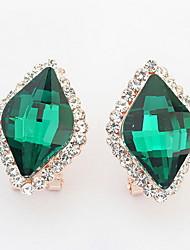 Women's Stud Earrings Drop Earrings Hoop Earrings Rhinestone Basic Unique Design Logo Style Rhinestones Friendship Hip-Hop Carved Rock