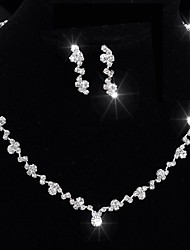 cheap -Women's Crystal Single Strand Jewelry Set - Unique Design, Classic, Tassel Include Silver For Wedding / Party / Special Occasion / Anniversary / Birthday