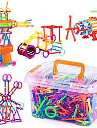 Approx 500PCS Novelty Creative Plastic DIY Smart Intelligence Stick 3D Assembly Building Blocks Construction Educational Toys Set Random Shape Color