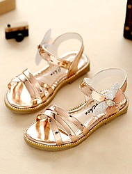 cheap -Girls' Sandals Comfort Flower Girl Shoes Light Soles  Summer Fall Outdoor Dress Casual Walking Rhinestone Flat HeelChampagne