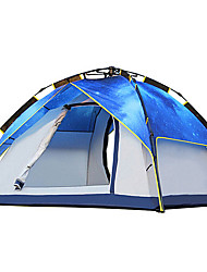 Недорогие -2 человека Световой тент Тройная Палатка Однокомнатная Автоматический тент Влагонепроницаемый Водонепроницаемость Ультрафиолетовая