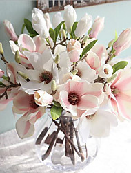 cheap -1 Branch Silk Magnolia Tabletop Flower Artificial Flowers Home Decoration Wedding Flowers