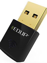 baratos -Edup usb wireless wifi adapter 300mbps wirless placa de rede wifi dongle mini ep-n1557