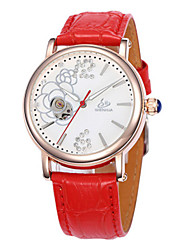 cheap -Women's Quartz Mechanical Watch Hot Sale Leather Band Charm Fashion White Red Purple