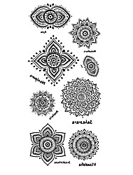 cheap -Tattoo Stickers Totem Series Pattern Lower Back WaterproofWomen Men Teen Flash Tattoo Temporary Tattoos