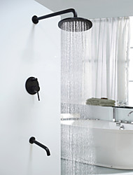 cheap -Shower Faucet - Antique Round Oil-rubbed Bronze Wall Mounted Ceramic Valve