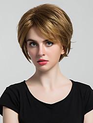 economico -美元素 Donna Parrucche sintetiche Pantaloncini Onda naturale Castano dorato Parrucca naturale Parrucca per travestimenti