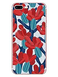 Pour apple iphone 7 7 plus 6s 6 plus couverture de casquette cactus modèle hd peint matériel tpu étui souple boîtier de téléphone