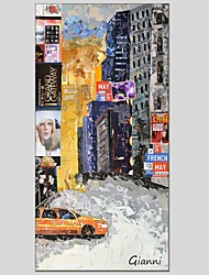 Peint à la main Abstrait Un Panneau Toile Peinture à l'huile Hang-peint For Décoration d'intérieur