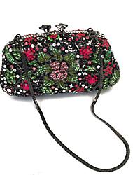 Damen Taschen Frühling Sommer Herbst Winter Ganzjährig PU Metall Unterarmtasche Perle Crystal / Strass für Hochzeit Veranstaltung / Fest
