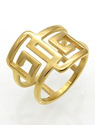 Homens Mulheres Anéis Grossos Maxi anel Anel Zircônia cúbica Circular Original Geométrico Rock Euramerican Clássico Dupla camada Moda