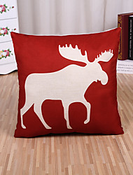 1 Pcs Red Elk Deer Sofa Pillow Cover Fashion Square Pillow Case Cushion Cover
