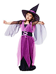 cheap -Witch Cosplay Costume Halloween Props Party Costume Masquerade Movie Cosplay Purple Dress Christmas Halloween Carnival Children's Day New