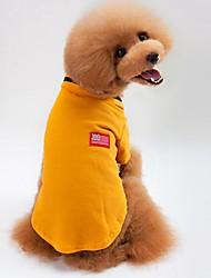 Gatto Cane T-shirt Felpa Abbigliamento per cani Casual Tinta unita Grigio Giallo Verde