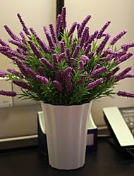 cheap -1 Bouquet Pastoralism lavender Artificial Flowers Home Decoration