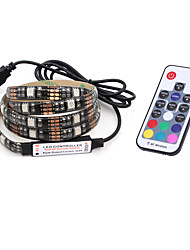 cheap -BRELONG USB 5050 RGB Strip Lights 5V TV Background Waterproof 2M 60 Leds with 17Key Controller