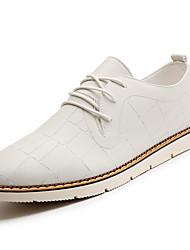 economico -Da uomo Sneakers PU (Poliuretano) Primavera Autunno Footing A quadri Piatto Bianco Nero Marrone 5 - 7 cm