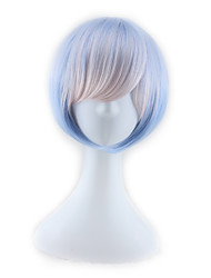 abordables -Pelucas sintéticas Recto Corte asimétrico Pelo sintético Entradas Naturales Azul Peluca Mujer Corta / Media Sin Tapa