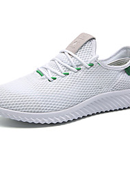 Running Shoes Men's Athletic Shoes Comfort Suede Summer Outdoor  Comfort Lace-up Flat Heel White Black Ruby Under 1in