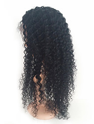 cheap -Human Hair Full Lace Wig Brazilian Hair Kinky Curly With Baby Hair 120% Density 100% Hand Tied African American Wig Medium Women's Human