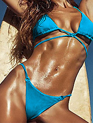 billige -Dame Bikini Ensfarvet,BandeauSolid