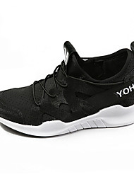 cheap -Women's Athletic Shoes Comfort Fabric Spring Fall Athletic Breathe Freely All Match Casual Outdoor Walking Comfort Lace-up Low Heel Blushing