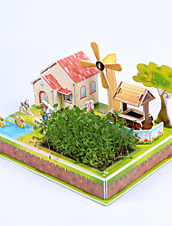cheap -3D Puzzle Model Building Kit House Paper Kid's Gift