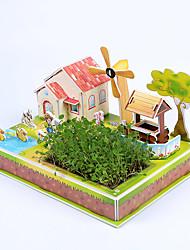 Недорогие -3D пазлы Наборы для моделирования Лошадь Бумага Детские Подарок