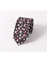 Floral tie Cotton printing fashion wedding skinny men leisure tie