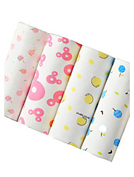 4Pcs/Lot Womens Sexy Seamless Panties Printed Underwear Cotton Polyester Spandex Briefs