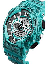 Homens Relógio Esportivo Relogio digital Japanês Quartzo Impermeável Plastic Banda Preta Azul Vermelho Cinza