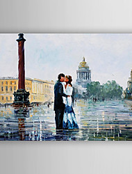 cheap -Hand-Painted Landscape Vertical, Abstract Canvas Oil Painting Home Decoration One Panel
