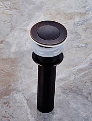 abordables -Accessoire de robinet - Qualité supérieure - Moderne Laiton Drain d'eau avec trop-plein - terminer - Bronze Huilé
