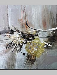 economico -Dipinta a mano Astratto Quadrato, Astratto Moderno/Contemporaneo Tela Hang-Dipinto ad olio Decorazioni per la casa Un Pannello