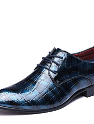 cheap -Men's Shoes Patent Leather Fall Winter Formal Shoes Oxfords Lace-up For Casual Party & Evening Blue Red Black