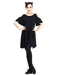 abordables -vêtements de danse latine tops performance féminine modale élégante robe classique