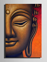 cheap -E-HOME Stretched Canvas Art Half Face Buddha Decoration Painting One Pcs