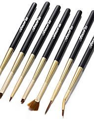 7pcs/Set Sweep Chalk Pull String Stroke Pen Nail Brushes Nail Art Tool
