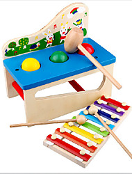 cheap -Xylophone Building Blocks Fun Wood Toy Musical Instrument Kid's Gift