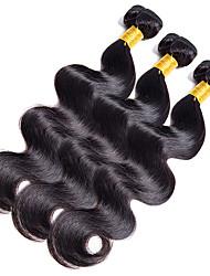 Недорогие -Натуральные волосы Индийские волосы Человека ткет Волосы Естественные кудри Наращивание волос 1 шт. Черный как смоль