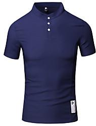 Herren Bedruckt Einfach Lässig/Alltäglich Arbeit T-shirt,Ständer Sommer Kurzarm Baumwolle Dünn
