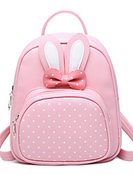 cheap -Kids' Bags PU Backpack Bowknot MiniSpot for Office / Career Casual Formal Outdoor Traveling Fall/Autumn Black Blushing Pink Amethyst