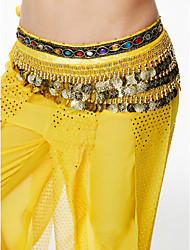 cheap -Belly Dance Hip Scarves Women's Performance Sequin Flannel Belt Beading Sequin Tassel(s) Paillettes 1 Piece Hip Scarf