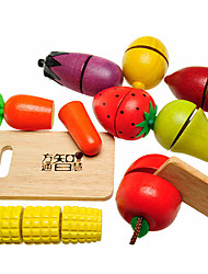 cheap -Toy Food / Play Food Toy Fruit & Vegetable Cutters Fruits & Vegetables Eco-friendly Wooden Kid's Gift