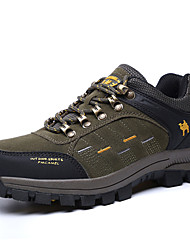 Hiking Shoes Men's Athletic Shoes Comfort  Suede Spring Fall Athletic Outdoor clothing Flat Heel Khaki Army Green