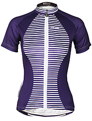 cheap -ILPALADINO Women's Short Sleeves Cycling Jersey Bike Jersey, Quick Dry, Ultraviolet Resistant, Sweat-wicking, Reflective Strips